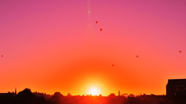 Balloons in the Melbourne Sunrise 2