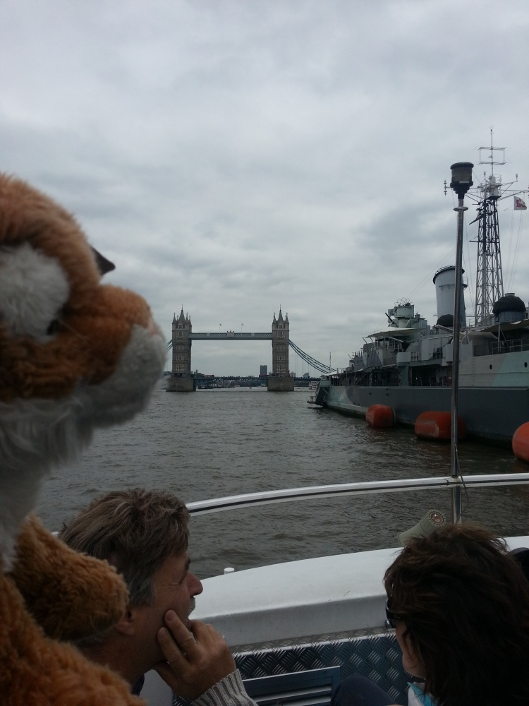 HMS Belfast and Tower Bridge. I'm on a Boat MuggerFugger