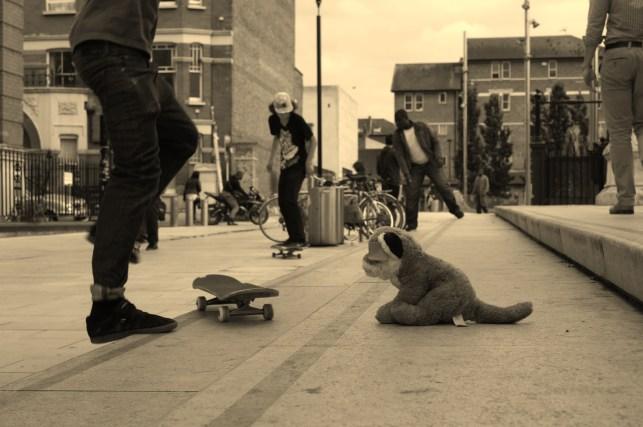 B&W Skateboarders