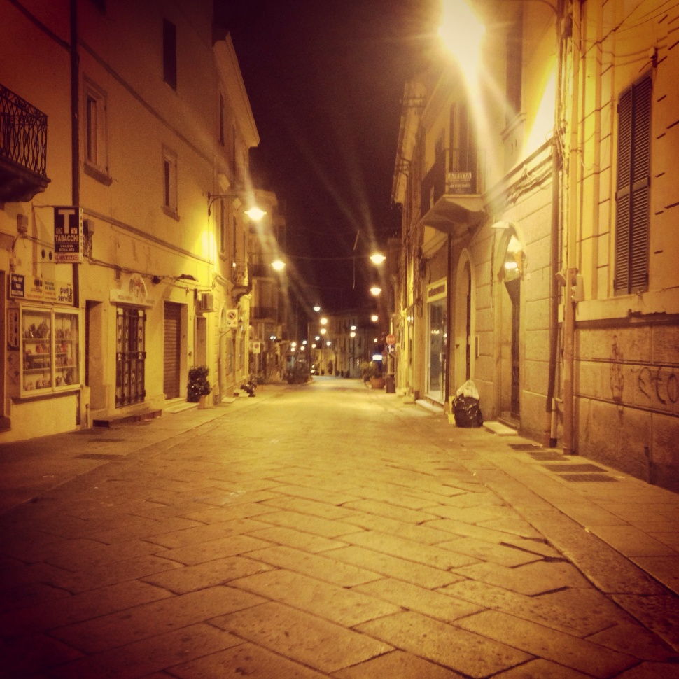 Mean streets of Sardinia...Tight