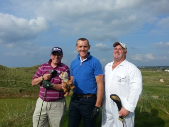 Eddie, Peter and Paul...there was a bit of cheating going on but as the saying goes All is fair in love and golf