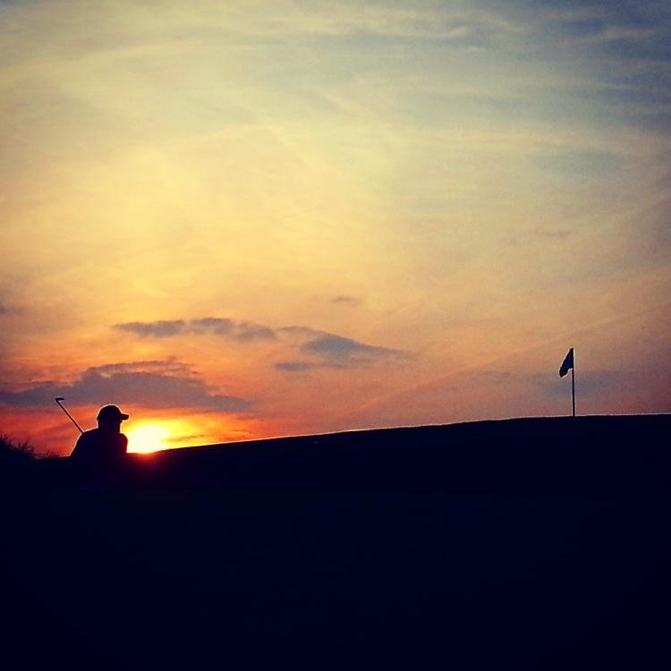 Bunker Shot at Sun Set