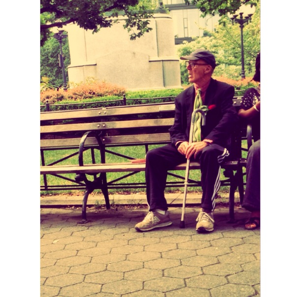Here we have the Mr. dressed in his finest suit from his closet, with a little touch of casualness added with his vintage sneaks and cap... Maybe he's waiting for her on the bench where they first met, and she had promised him she'd come back one day.....and so he impatiently awaits... or maybe he just wanted to look extra fine when he left his house that morning possibilities are endless my dears, so imagination is key!