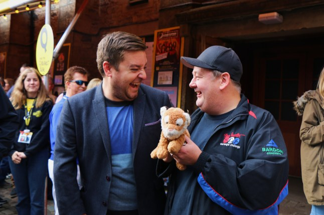 Johnny Vegas and Ed