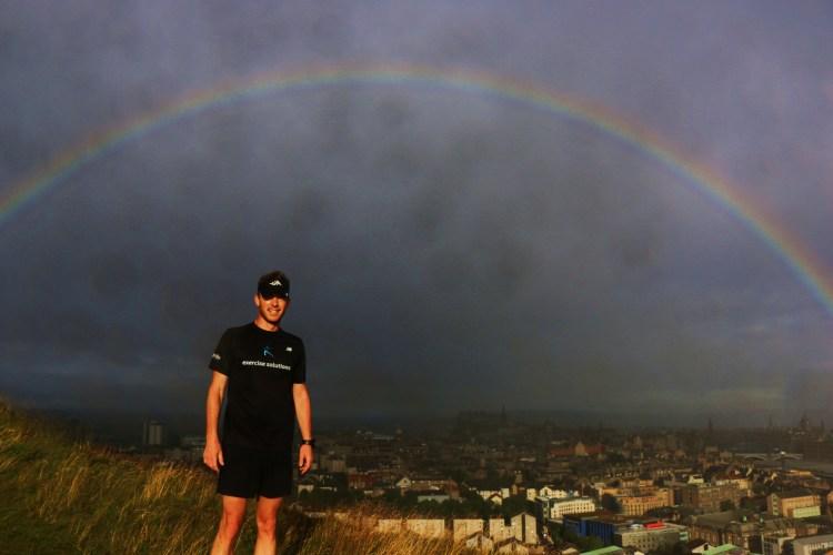Man with Rainbow