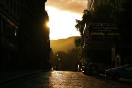 Sunrise over underbelly