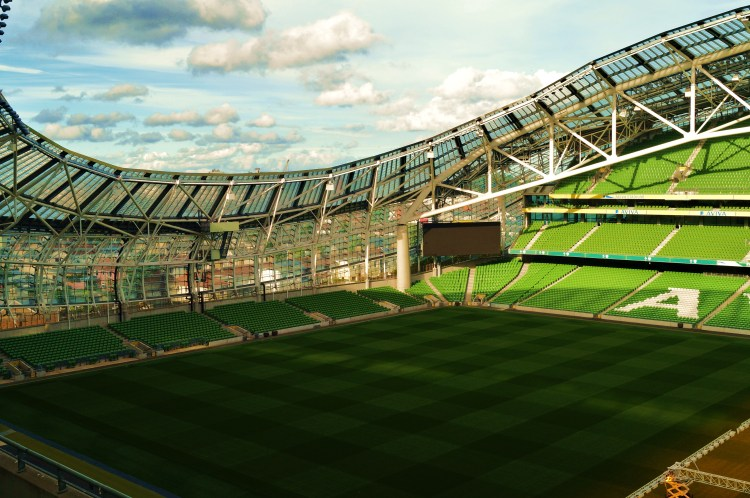 Great Shot left of aviva