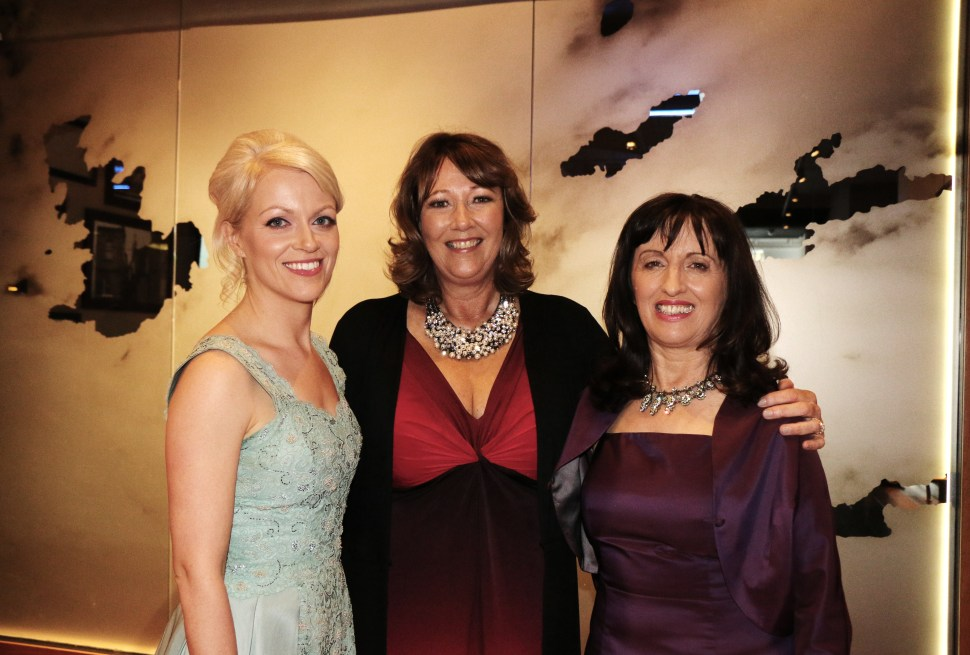 A Lovely Photo of three ladies wider
