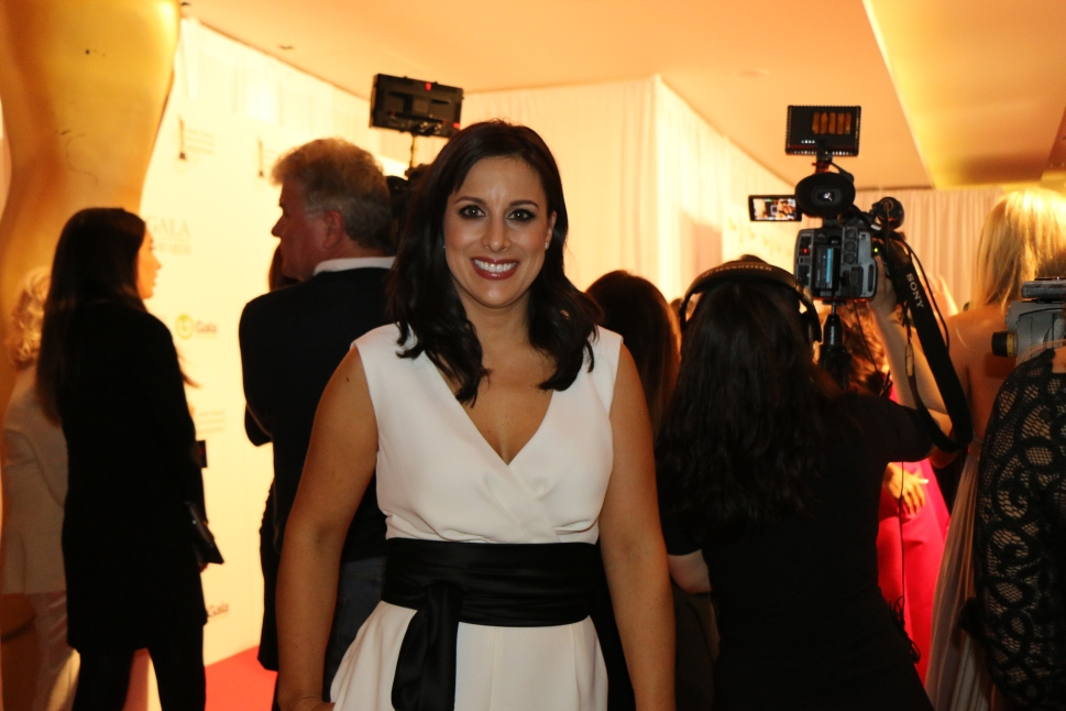 Lucy Kennedy behind the cameras