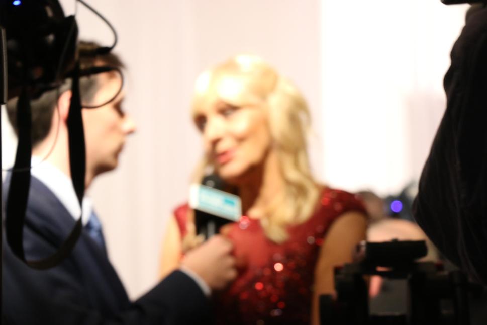 Miriam Behind Microphone