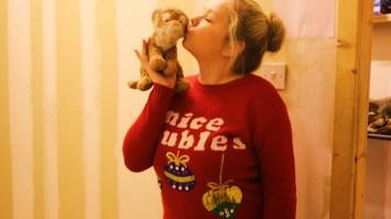 Santa 2015 kissing