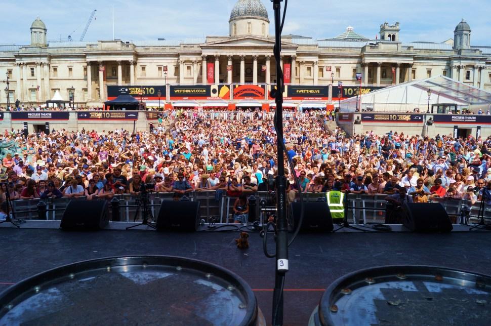 Trafalgar Square u look awesome